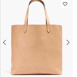 madewell transport tote in linen BNWT